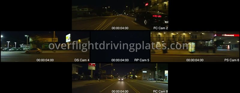 East Colorado Boulevard Night  Pasadena California USA - Driving Plate Preview 2012