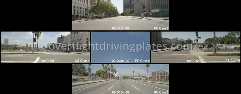 City Hall  Los Angeles California USA - Driving Plate Preview 2012