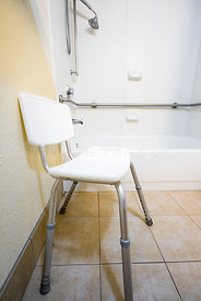Chair in Disabled Access Hotel Bathroom