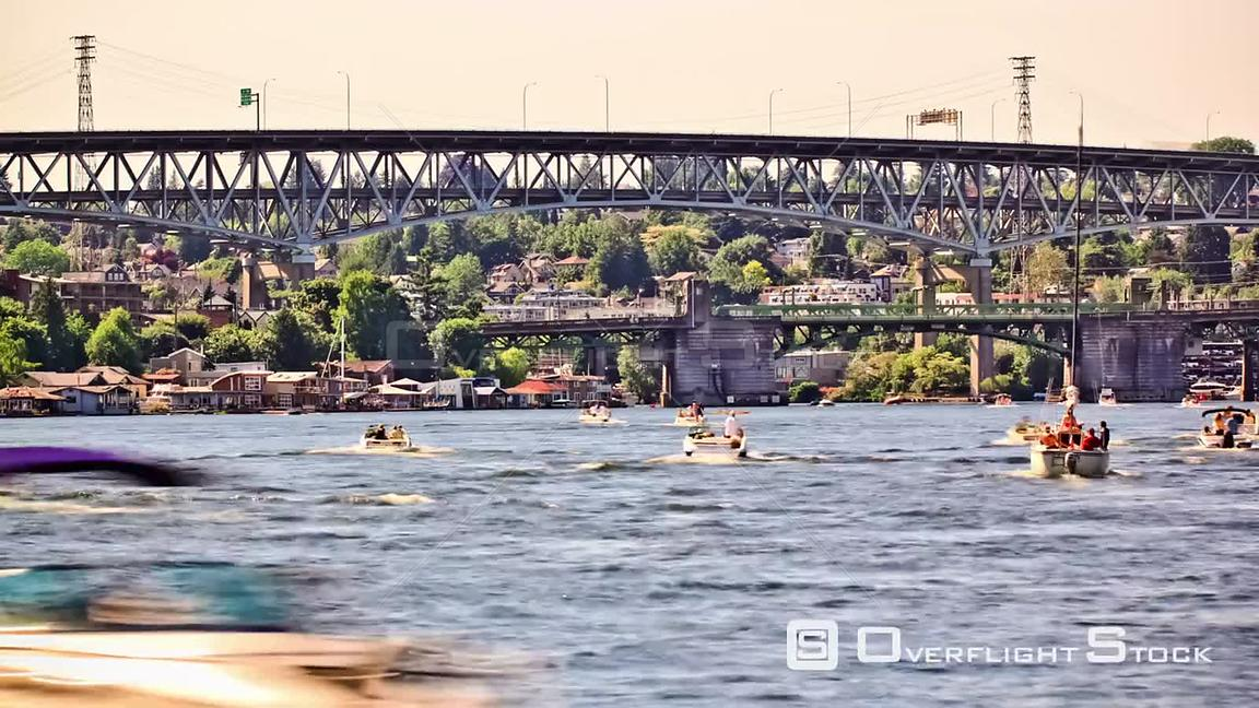 Boat traffic time lapse Washington