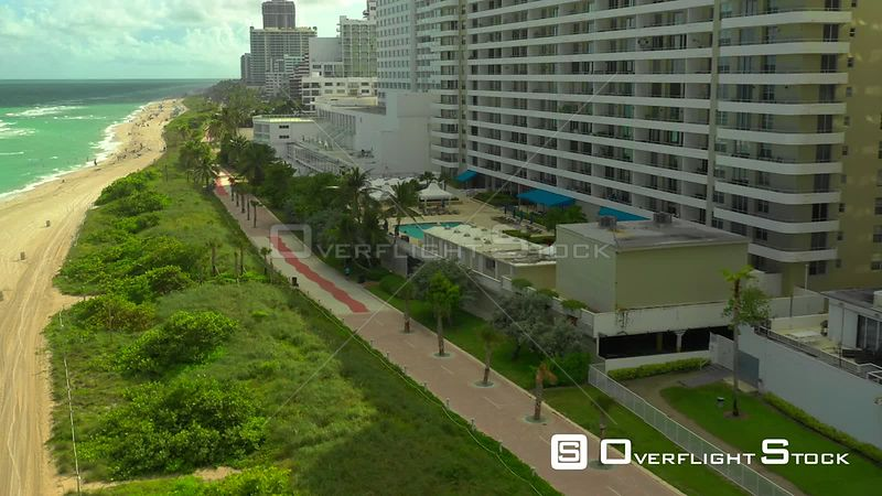 Aerial drone beauty shots of Miami Beach 4k