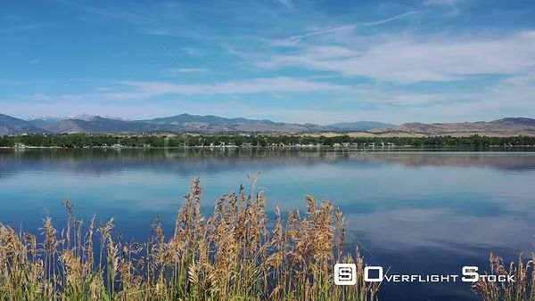 Lake Loveland and the Rocky Mountains, Loveland, Colorado, USA