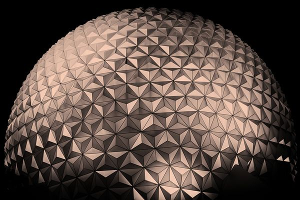 Spaceship Earth in Rose Gold | Color Print