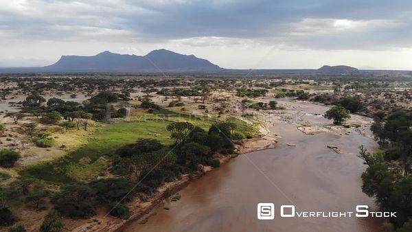 Shaba National Reserve Kenya Africa Landscape Drone Aerial View