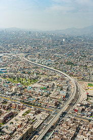 Highway Through Capital City Lima Peru