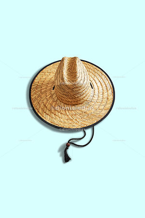 Beach hat seen from above vertically