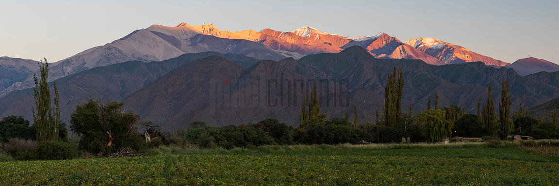 View of Cachi Mountain and Calchaqui River Valley at Sunrise