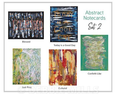 SET 2 - Abstract Notecards by Debbie Mills