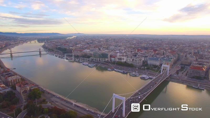 Aerial Drone Video of Budapest Hungary