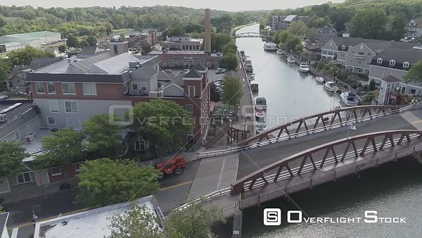 Erie Canal Fairport New York Drone View