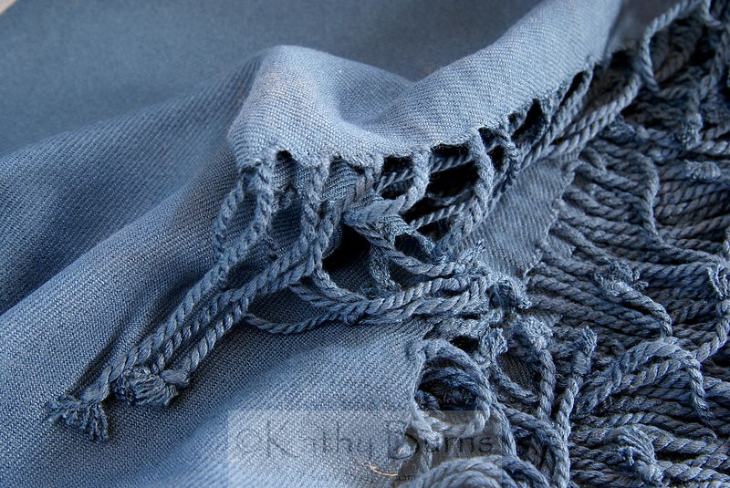 Midnight Blue Bamboo Viscose Blanket Throw
