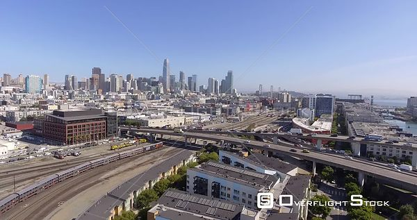 Drone Video Train Station Highway 280 Mission Creek San Francisco California