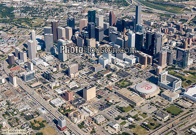 Downtown Houston aerial photo