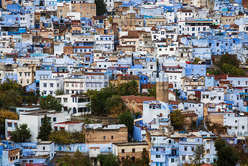 Distant View of the City of Chefchaouen
