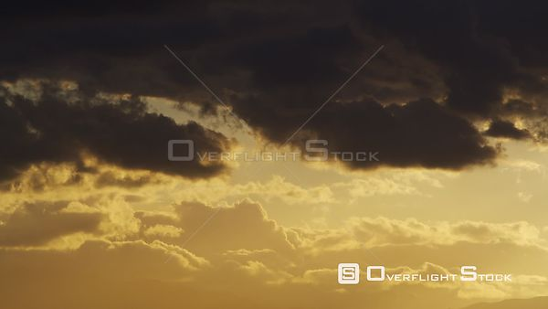 Sunset of on Sky and Clouds