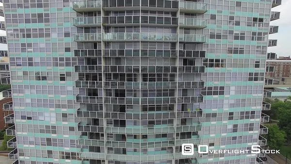 Highrise Apartment Building Louisville Kentucky Drone Aerial View