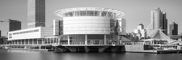 Milwaukee Panorama Picture in Black and White
