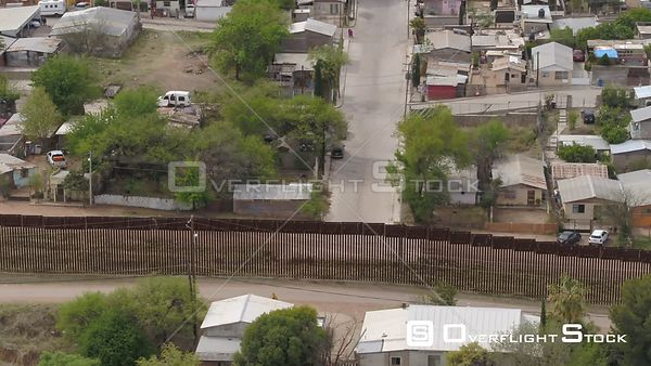Drone Video Border Wall Nogales Arizona Sonora Mexico