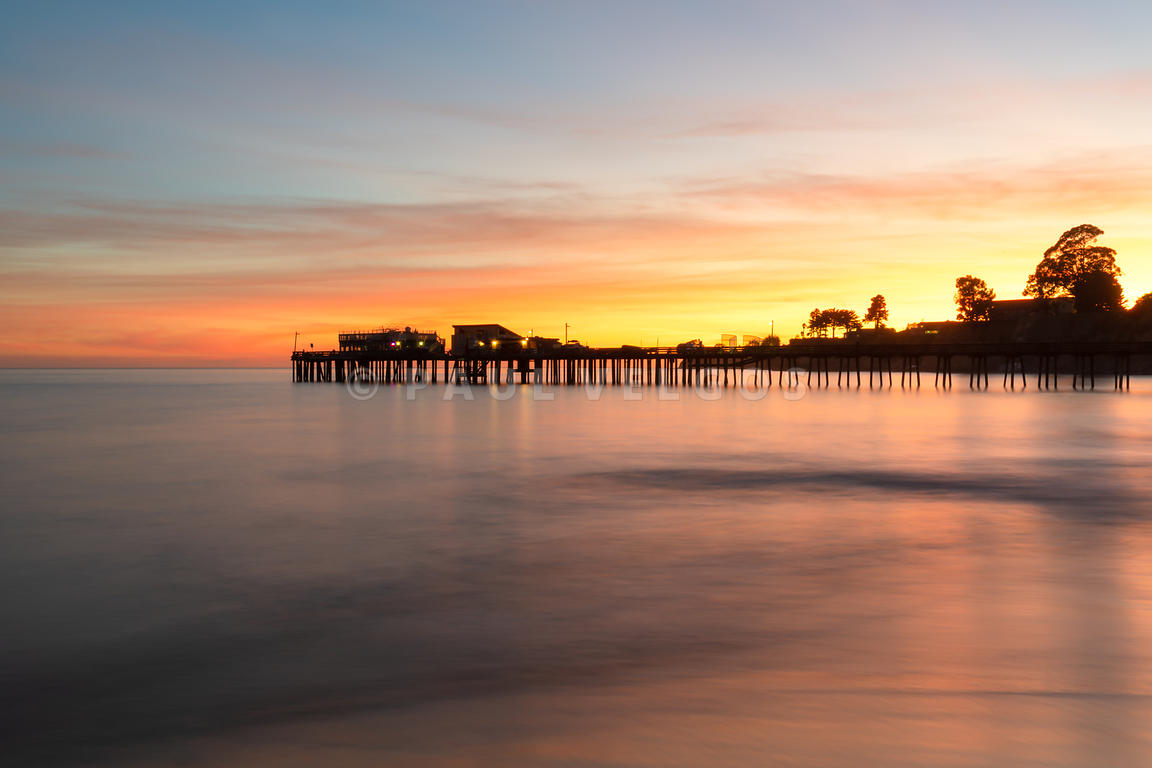 Capitola California Wharf Pier at Sunset Photo