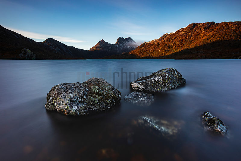 Dawn Landscape at Dove Lake with Cradle Mountain