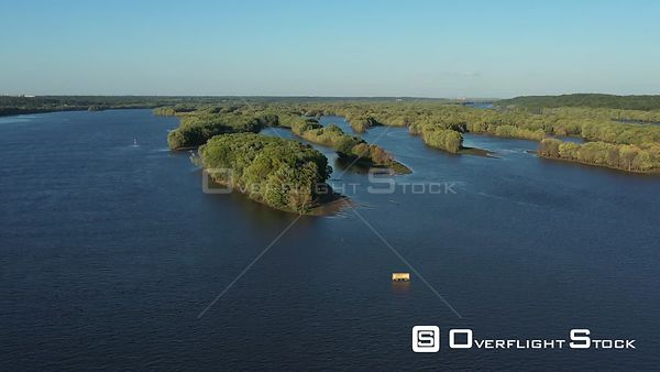 Mississippi River backwaters, Muscatine, Iowa, USA