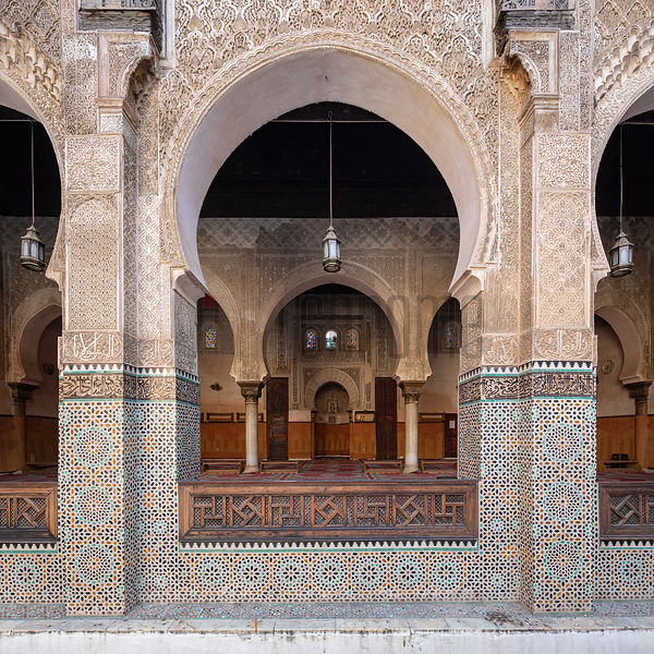 Interior of the Bou Inania Madrasa