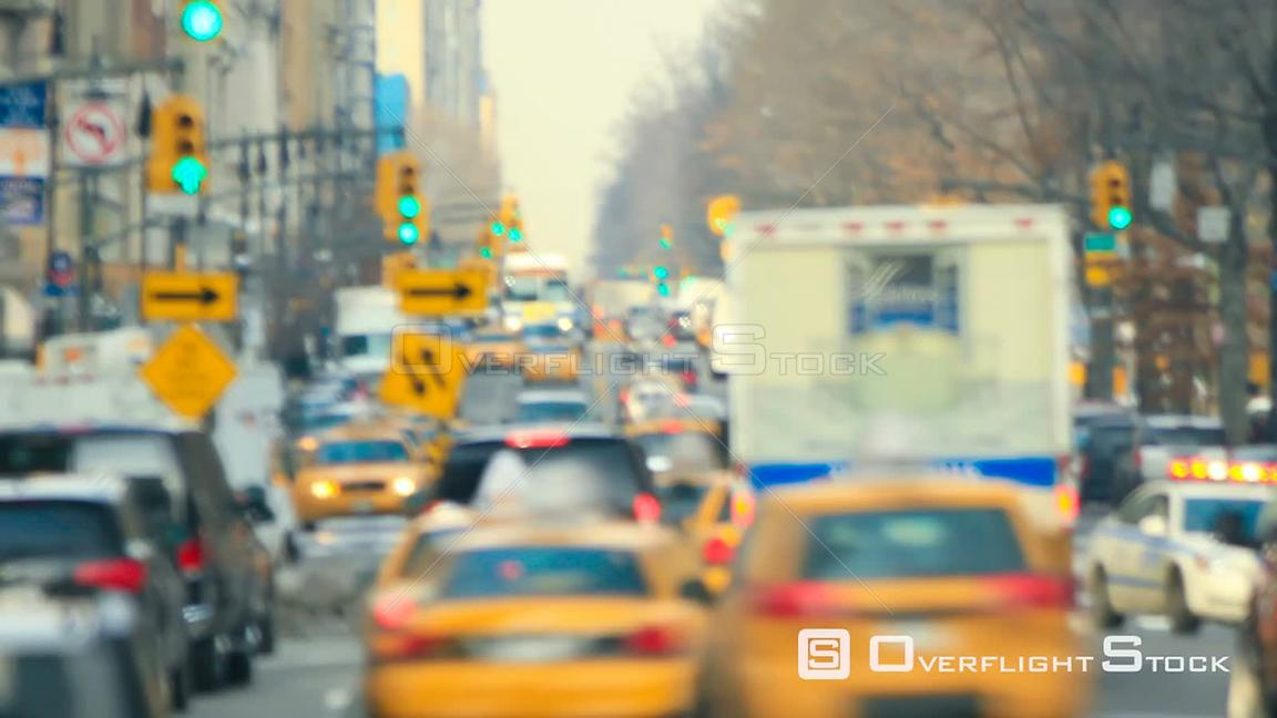 NYC New York USA Zooming New York City traffic time lapse shot