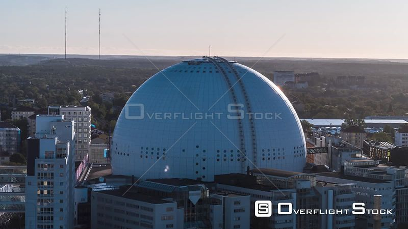 Drone Video Ericsson Globe Stockholm Sweden