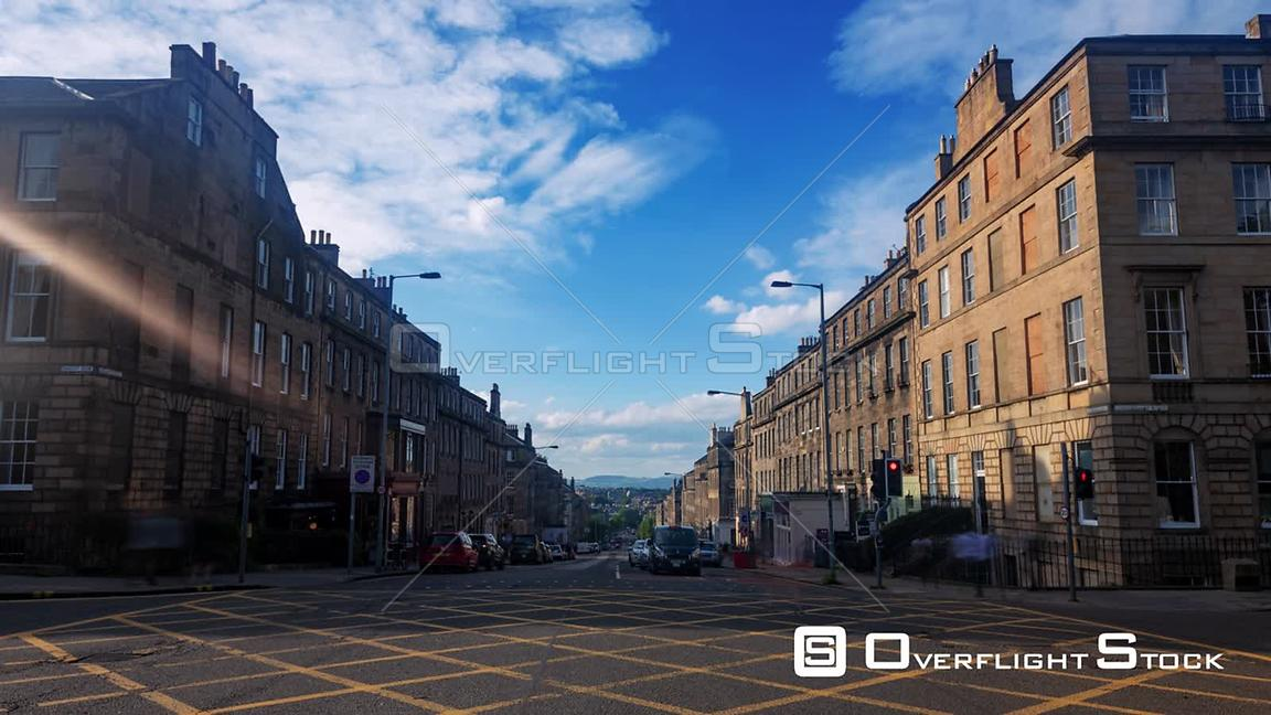 Timelapse View of Car Traffic in Edinburgh New Town Scotland