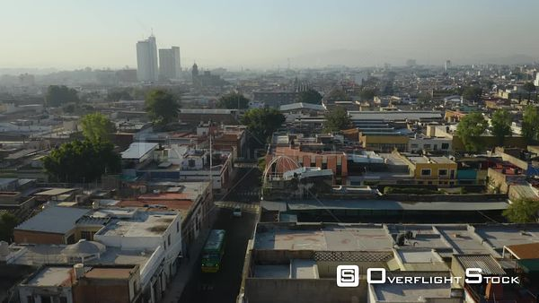 City Skyline Guadalajara Drone Aerial View Mexico