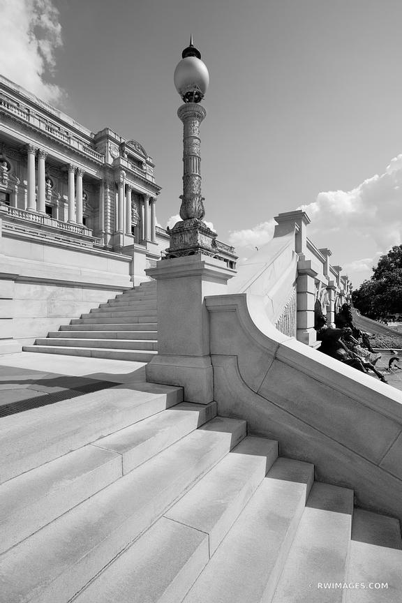 LIBRARY OF CONGRESS THOMAS JEFFERSON BUILDING WASHINGTON DC BLACK AND WHITE VERTICAL
