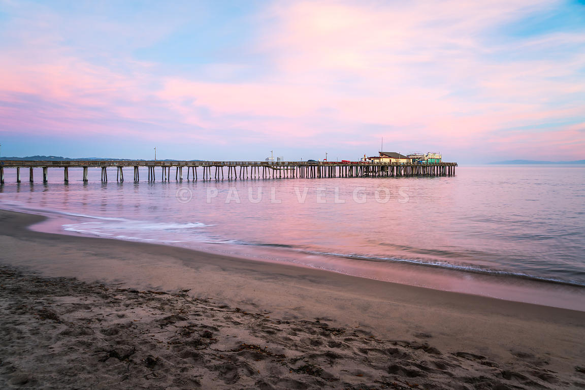 Capitola Beach Wharf Pier Sunset Photo