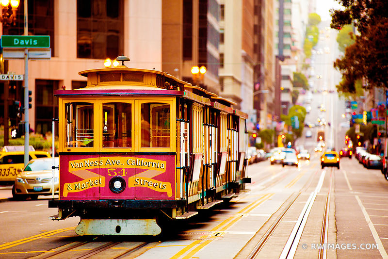 SAN FRANCISCO CABLE CAR VAN NESS AVENUE SAN FRANCISCO CALIFORNIA COLOR