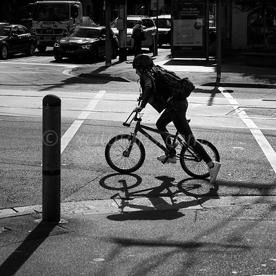 Cyclist, Richmond, Victoria,Australia.