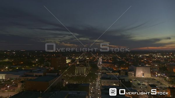Mobile Alabama descending parallax view of downtown and the city skyline at sunset  DJI Inspire 2, X7, 6k