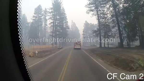 Camp Fire Post Fire Smoke  Paradise California USA - Center Front View Driving Plate Cam23 Feb 15, 2019