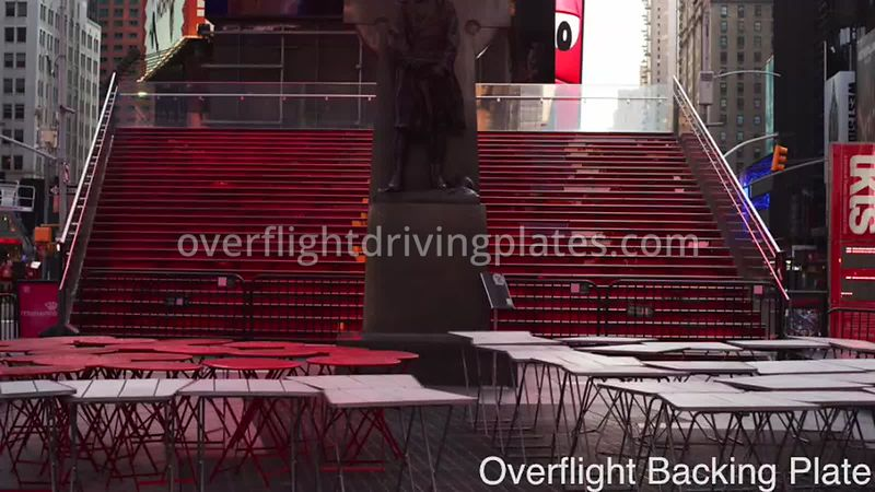 Duffy Square Deserted Streets During Covid-19 Pandemic Time Square Manhattan New York New York USA - BackingPlate Apr 27, 2020