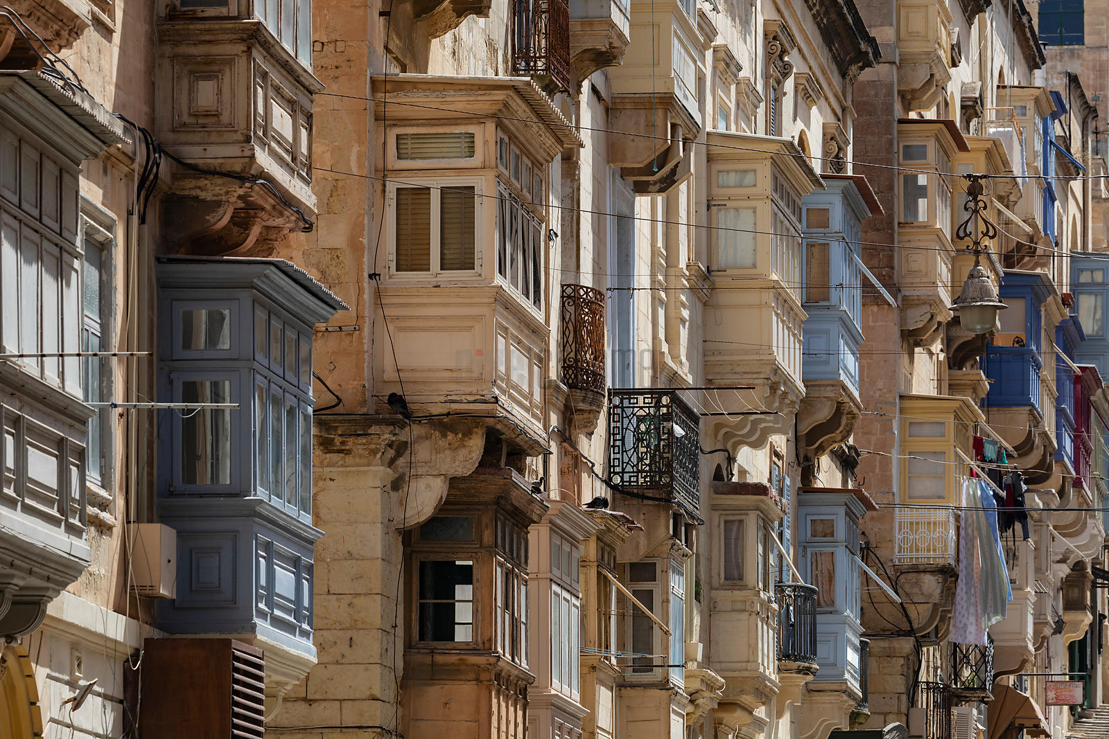 Maltese Balcony Windows on Republic Street