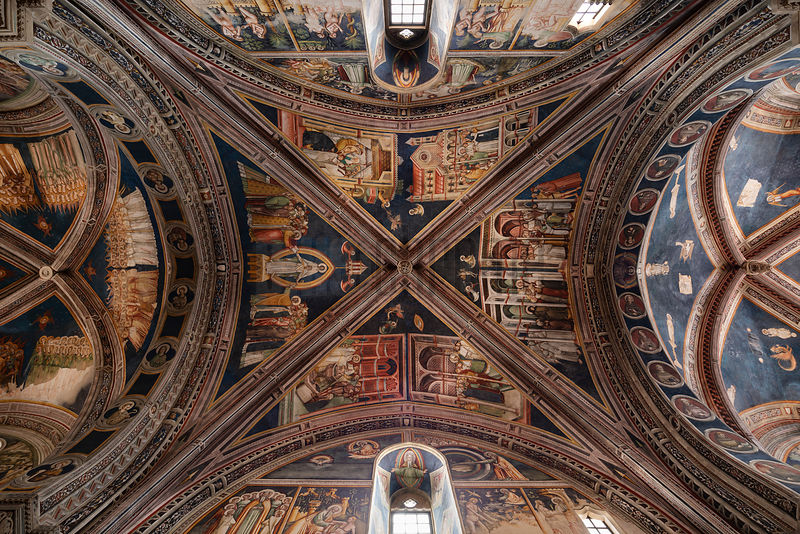 Frescoed Ceiling of the Basilica Santa Catarina d'Alessandria