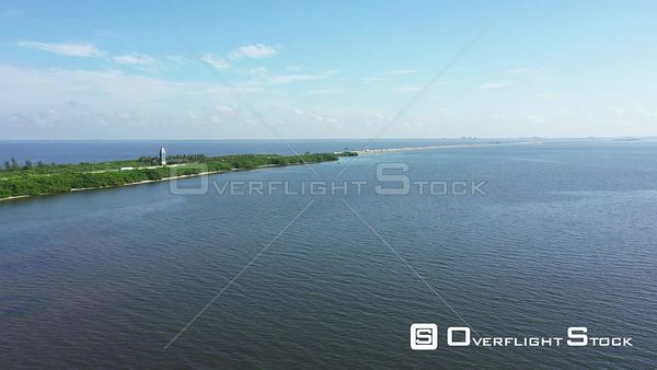 Aerial video I275 highway over Tampa Bay Florida USA 4k
