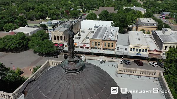 Lady Justice statue on top of the roof of the courthouse, Georgetown, Texas, USA