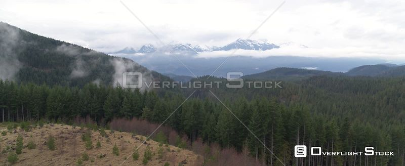 British Columbia Snow Capped Mountains and Forest Canada
