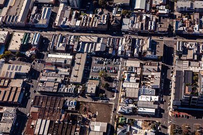 Aerial view of Brunswick in Melbourne, Victoria, Australia.