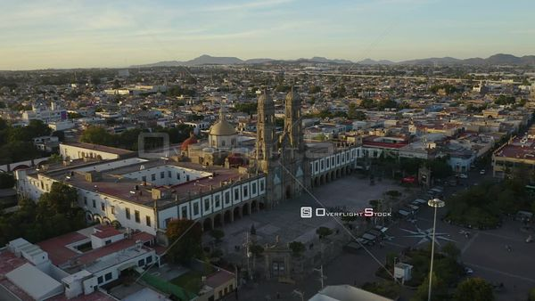 Basilica of Our Lady of Zapopan City of Guanajuato Mexico Drone Aerial View