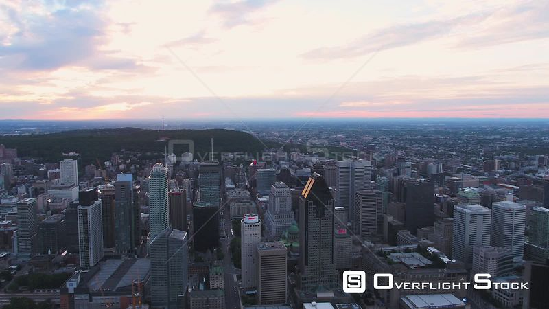 Montreal Downtown Cityscape Quebec Canada