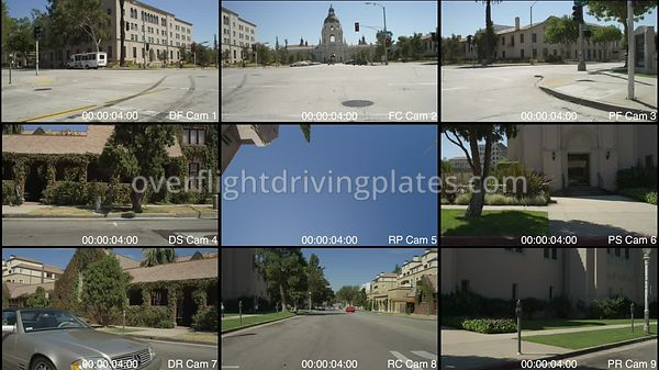 City Hall  Pasadena California USA - Driving Plate Preview 2012