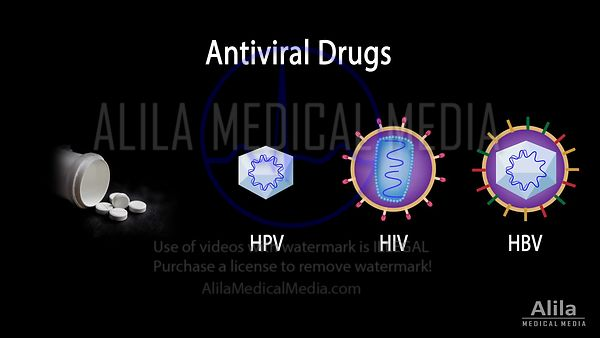 Antiviral drugs, mechanisms of action, NARRATED animation