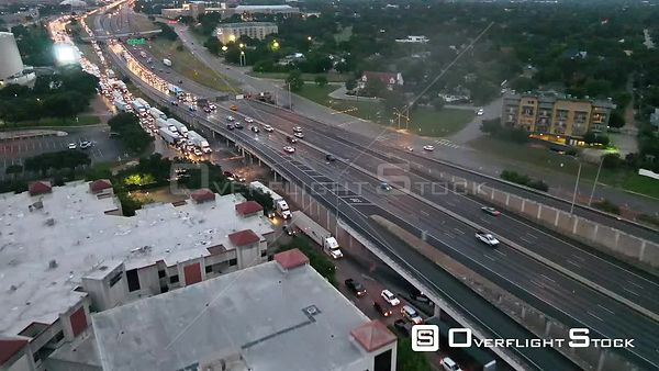 Traffic Jam and Police Stops I35 Austin Texas