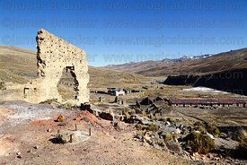 Abandoned mining community at Chiriaque near Tuni, La Paz Department, Bolivia