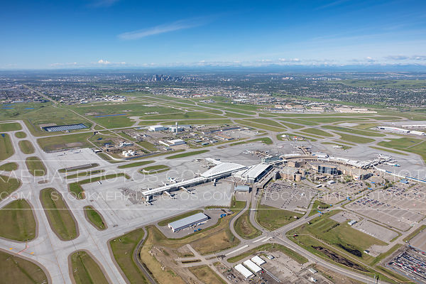 Wide angle view of Calgary International Airport